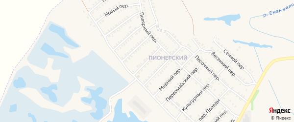 Лесной переулок на карте Еманжелинска с номерами домов