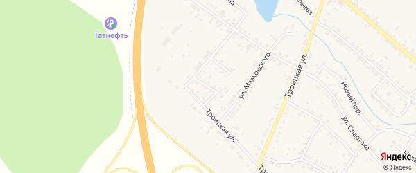 Переулок Маяковского на карте Коркино с номерами домов