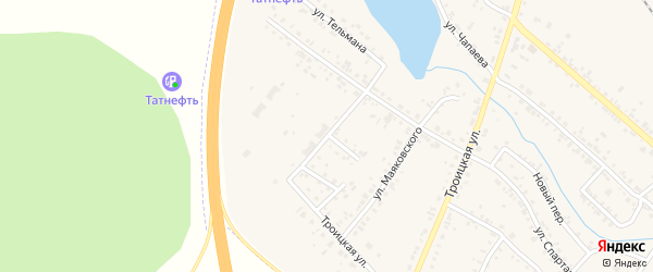 Переулок Спартака на карте Коркино с номерами домов