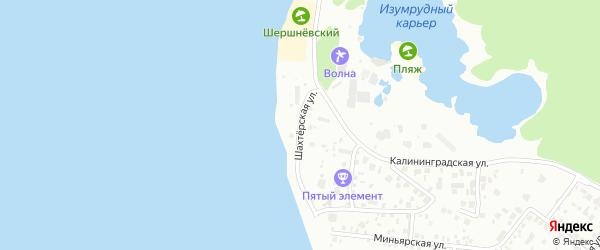 Шахтерская улица на карте Челябинска с номерами домов
