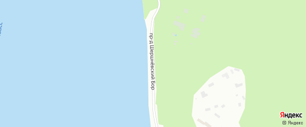 Проезд Шершневский Бор на карте Челябинска с номерами домов