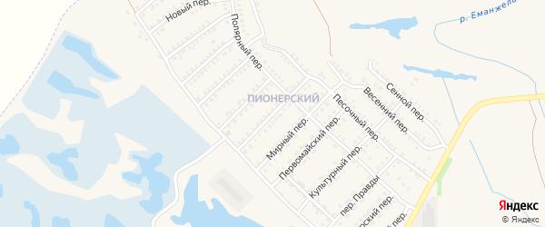 Московский переулок на карте Еманжелинска с номерами домов