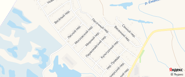 Мирный переулок на карте Еманжелинска с номерами домов