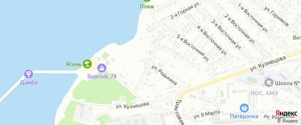Маршанский 3-й переулок на карте Челябинска с номерами домов
