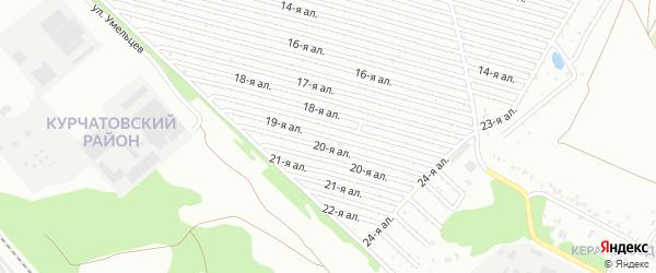 Сад СНТ Искра аллея 19 на карте Челябинска с номерами домов
