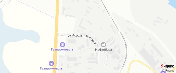 Улица Асфальтная станция на карте Челябинска с номерами домов