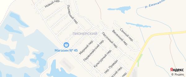 Полярный переулок на карте Еманжелинска с номерами домов