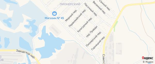 Станционный переулок на карте Еманжелинска с номерами домов