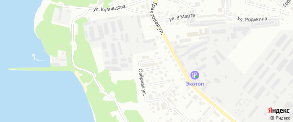 Одуванчиковый переулок на карте Челябинска с номерами домов