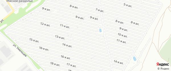 Сад СНТ Искра на карте Челябинска с номерами домов
