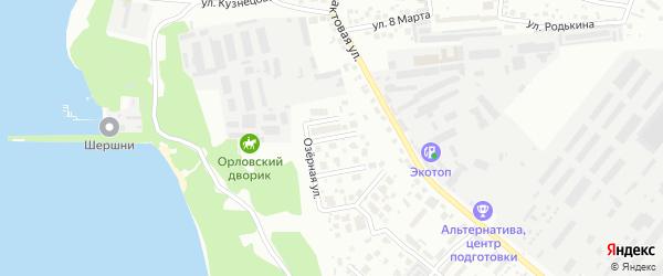 Удачный переулок на карте Челябинска с номерами домов