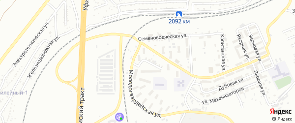 Огневая улица на карте Челябинска с номерами домов