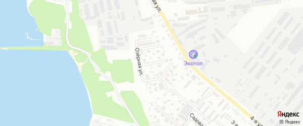Пейзажная улица на карте Челябинска с номерами домов