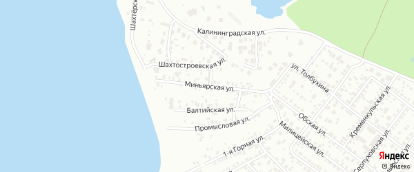 Миньярская улица на карте Челябинска с номерами домов