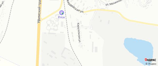 Карусельная улица на карте Челябинска с номерами домов