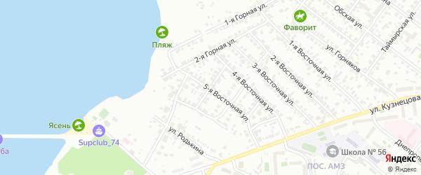 Маршанский 2-й переулок на карте Челябинска с номерами домов