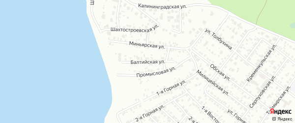 Балтийская улица на карте Челябинска с номерами домов