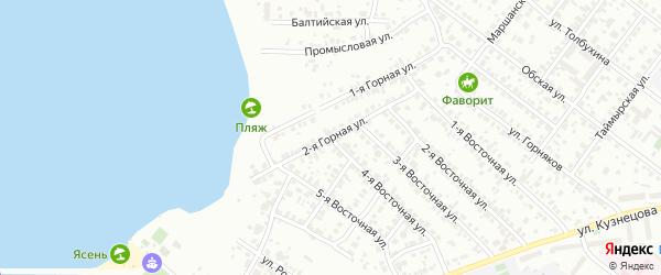Горная 2-я улица на карте Челябинска с номерами домов