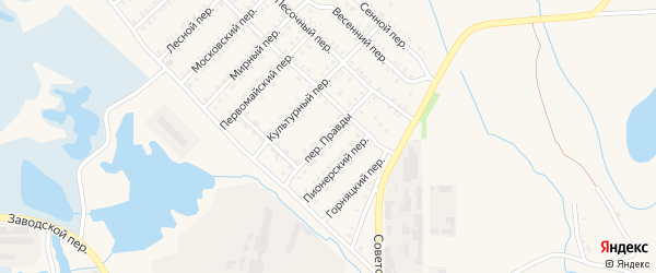 Переулок Правды на карте Еманжелинска с номерами домов