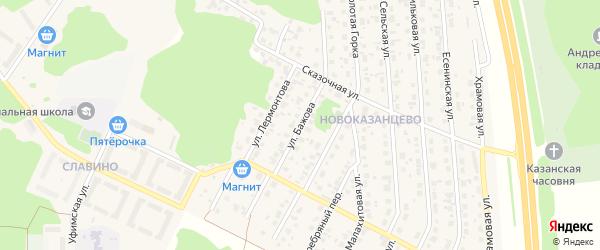 Улица Бажова на карте деревни Казанцево с номерами домов
