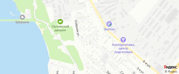 Орлиная улица на карте Челябинска с номерами домов