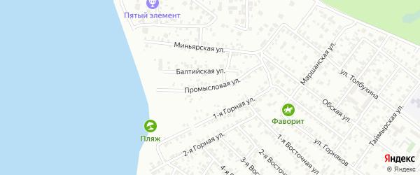 Промысловая улица на карте Челябинска с номерами домов