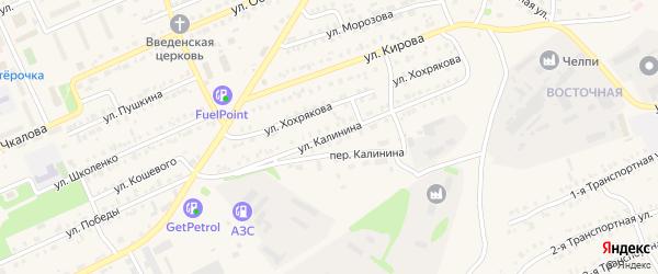 Улица Калинина на карте Еманжелинска с номерами домов