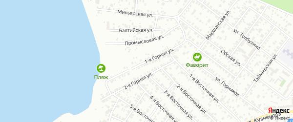 Горная 1-я улица на карте Челябинска с номерами домов