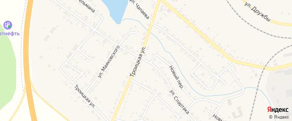 Улица Спартака на карте Коркино с номерами домов