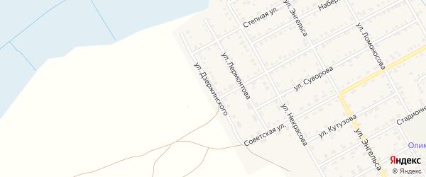 Улица Дзержинского на карте Увельского поселка с номерами домов