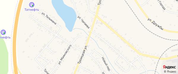 Троицкая улица на карте Коркино с номерами домов
