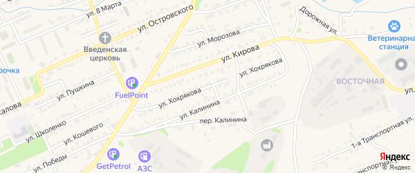 Улица Хохрякова на карте Еманжелинска с номерами домов
