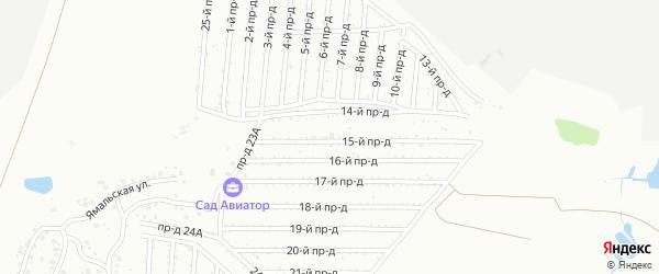Сад СНТ Авиатор на карте Челябинска с номерами домов