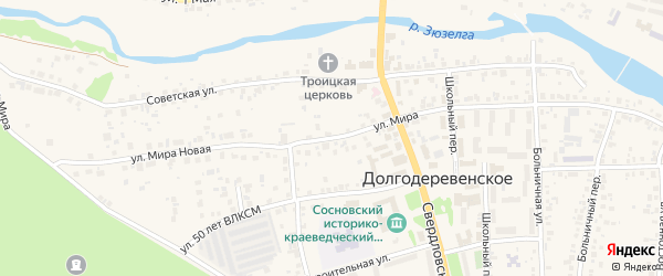 Улица Мира на карте деревни Султаева с номерами домов