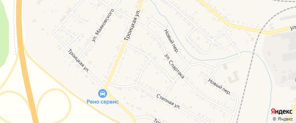 Московская улица на карте Коркино с номерами домов