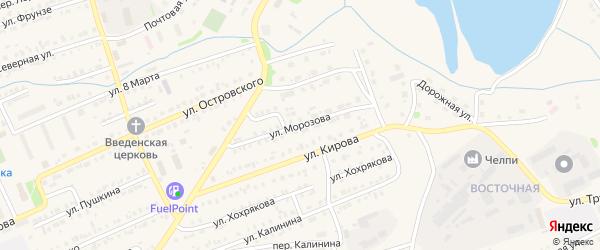 Улица Морозова на карте Еманжелинска с номерами домов