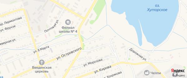 Коммунальная улица на карте Еманжелинска с номерами домов