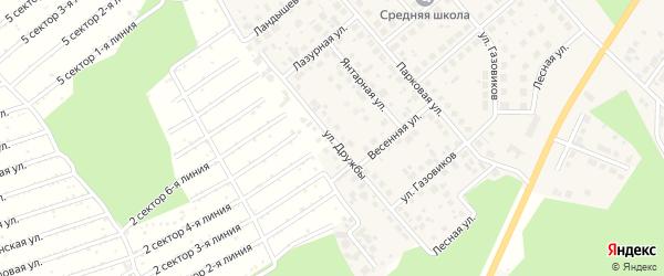 Улица Дружбы на карте Долгодеревенского села с номерами домов
