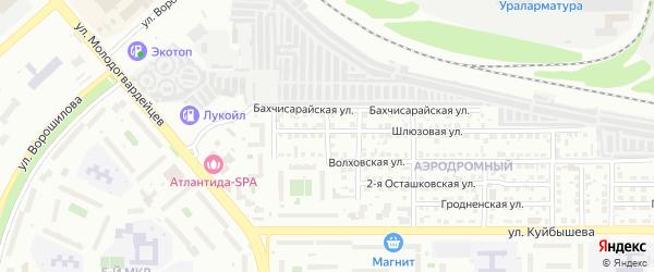 Игровая 1-я улица на карте Челябинска с номерами домов