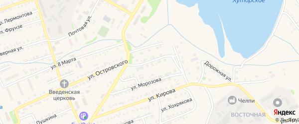 Улица Автомобилистов на карте Еманжелинска с номерами домов