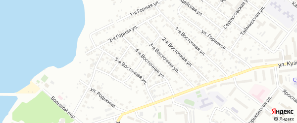 Восточная 4-я улица на карте Челябинска с номерами домов