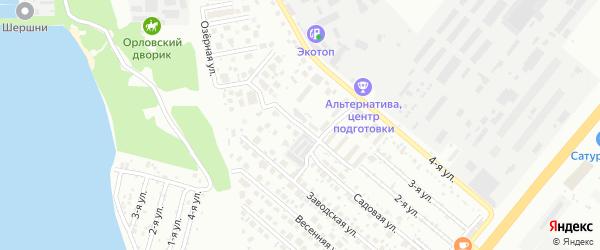 Садовый переулок на карте Челябинска с номерами домов