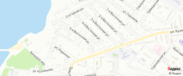 Маршанский 1-й переулок на карте Челябинска с номерами домов