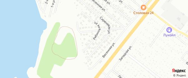 Рябиновая улица на карте Челябинска с номерами домов