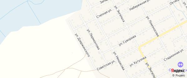 Улица Лермонтова на карте Увельского поселка с номерами домов