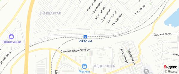 Километр 2092 на карте Челябинска с номерами домов