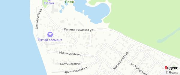 Дружный переулок на карте Челябинска с номерами домов