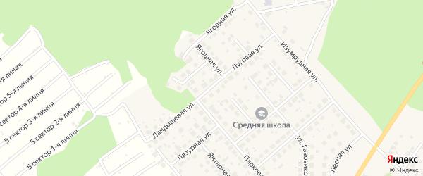 Луговая улица на карте Долгодеревенского села с номерами домов