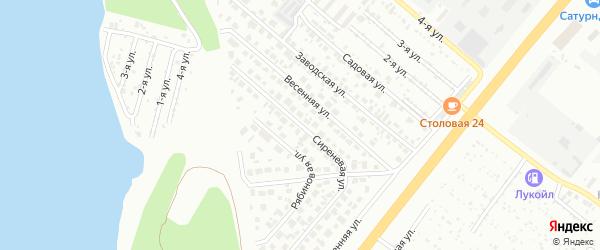 Сиреневая улица на карте Челябинска с номерами домов