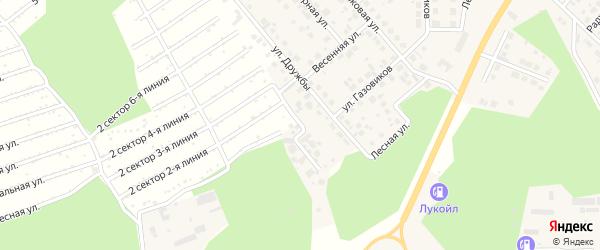 Ясная улица на карте Долгодеревенского села с номерами домов